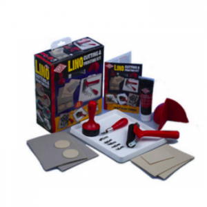 Essdee Linoldruck Set / Printig Kit (Linol, Farben, Werkzeuge)