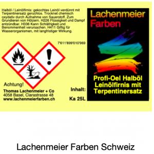 Profi-Oel Halböl Leinölfirnis mit Terpentinersatz
