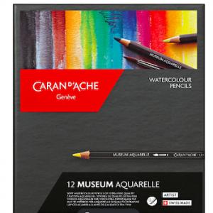 Caran d'Ache Artist Museum Aquarell Set 12 Farben und Zubehör