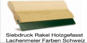 Siebdruck Werkzeug: Rakel Holz / Gummi 26cm Shore 70