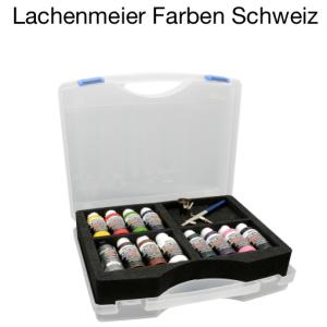 Badger Airbrushpistole 150 M Set: 11 Createx Farben +  Zubehör