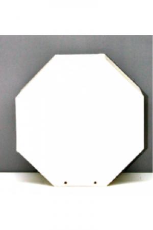 Laterne Kopflaterne gross achteck ca. 20,5x20,5cm