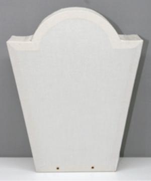 Laterne Kopflaterne gross Trapez mit Bogen ca. 25x20cm
