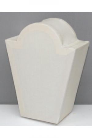 Laterne Kopflaterne klein Trapez mit Bogen ca. 18,5x14cm