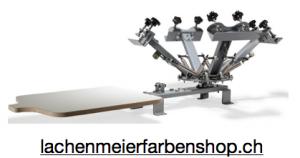 Siebdruckeinrichtung Siebdruckkarusell HyperPress für 4 Siedbruckrahmen