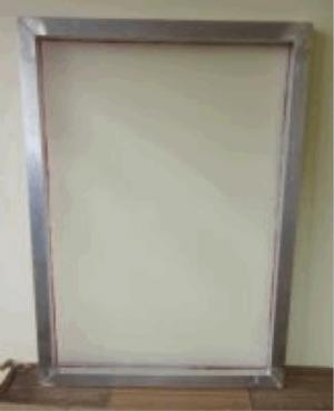 Siebdruck Rahmen Alu bespannt, für A2+ Gewebe 120T Aussen: ca. 53x73cm Innen: 47x66cm bespannt