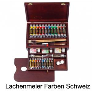 Talens Rembrandt Oil Colours wooden box tubes and accessoires