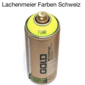Montana Spraylack matt Fluo F1000 flash yellow Tagensleuchtfarbe / Leuchtgelb / ähnlich wie RAL 1026 Leuchtgelb