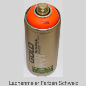 Montana Spraylack matt Fluo F2000 power orange Tagensleuchtfarbe / Leuchtorange