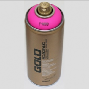 Montana Spraylack matt Fluo F4000 gleaming pink Tagesleuchtfarbe / Leuchtpink