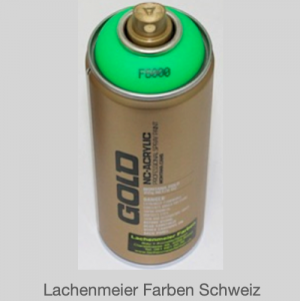 Montana Spraylack matt Fluo F6000 acid green Tagesleuchtfarbe Leuchtgrün