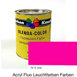 Blenda-Color Acryl Fluo B WL-8 Pink UV reflektierende Leuchtfarbe