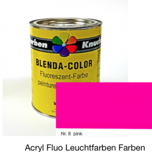 Blenda-Color Acryl Fluo A WL-8 Pink UV reflektierende Leuchtfarbe