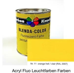 Blenda-Color Acryl Fluo WL-11 hellorange UV reflektierende Leuchtfarbe