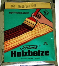 Holzbeize in Pulver S10 spritlöslich161 Nussbraun hell
