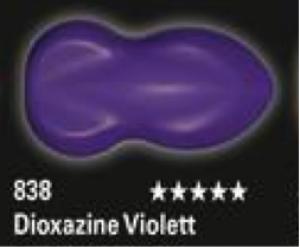 Schmincke Aerocolor Total Cover S18 838 Dioxazine Violett Airbrushfarbe WB deckend