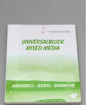 Hahnemühle Block Universalblock 310gr 24x32cm 25 Blatt, Mix Media für alle Farben