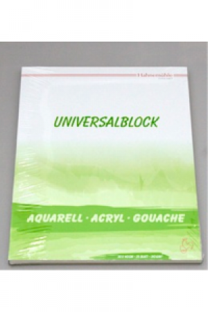 Hahnemühle Block Universalblock 310gr 30x40cm 25 Blatt, Mix Media für alle Farben