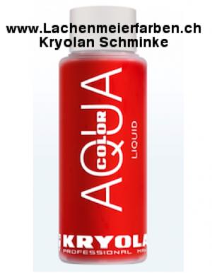 Kryolan Aquacolor Liquid 079 Rot Standart Liquid Nass-Schminke
