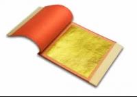 Gold 22K Blattgold Orangegold Doppel transfer 80x80mm