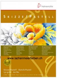 "Hahnemühle Block Skizzenblock Pastellblock ""100% Hadern"" 130gr 30 Blatt A3 29,7x42cm"
