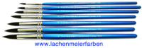 Profi Blue Blau R Künstlerpinsel Rund Pinselset 7 Pinsel Nr 2 - 18 Stiel Blau Kunsthaar Sepia