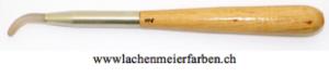 Achatstein Polierstein Nr 108, fein geschliffen, mit Holzgriff