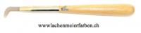 Achatstein Polierstein Nr 130, fein geschliffen, mit Holzgriff
