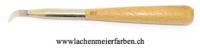 Achatstein Polierstein Nr 107, fein geschliffen, mit Holzgriff