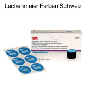 3M 33895 Lackkorrektur Handschleifsystem Set Schleifmittel P2000 60 Scheifrondellen 32mm Blau