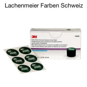 3M 33898 Lackkorrektur Handschleifsystem Set Schleifmittel P2500 60 Scheifrondellen 32mm Grün
