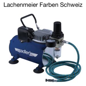 Kompressor Mini Adler Ad-4001 für Airbrush mit Automatikschalter 220V, 60dB, inkl. Schlauch und Kupplung