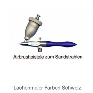 Adler Airbrushpistole Sandstrahlpistole AD-7778 Fliessbecher (Pistole, Schlauch, Strahlmittel, Halter, Staubmaske)