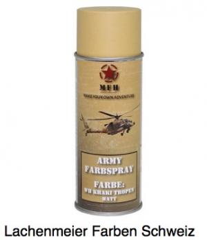 Army Farben Spray Matt S1 WH Khaki Tropen