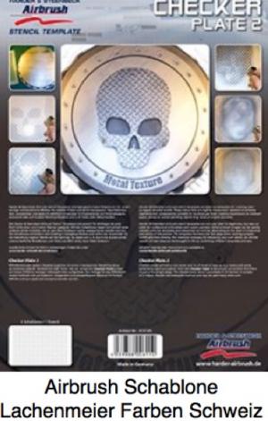 Airbrush Schablone Step-by-step ca. A4 Checker Plate / Metallstruktur Riffelblech