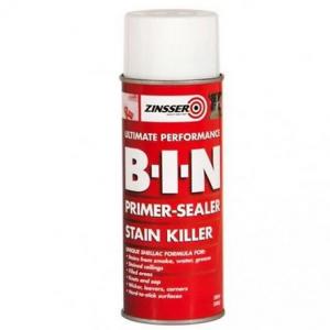 Zinsser BIN Haftgrund Spray: Flecken - und Geruchskiller auf Schellack-Basis / 45 Minuten isoliergrund