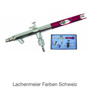 Adler Airbrushpistole AD-776R Saugbecher Düse 0,3mm (Pistole, Glastopf, Metalltopf, Halter, Schlüssel)