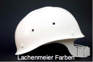 """Fasnachtshelm / Bauhelm  """"Anstosskappe"""" ohne Schild, Weiss, Kunststoff inkl. Innenteil"""