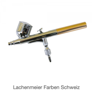 Adler Airbrushpistole AD-7704 Fliessbecher Düse 0,2mm  (Pistole, Halter, Schlüssel)