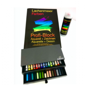 Set Nr 2: Pastellzeichnen: Set Rembrandt Soft Pastell, + Profi-Block A3, Profi-Fix Spray: Starter Sets: Paint or draw immediately