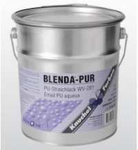 Blenda-PUR PU WB 281 Streichlack Seidenglanz Weiss ca. 4,7L