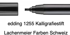 Edding 1255 01 2,0mm Calligraphie Pen Schwarz