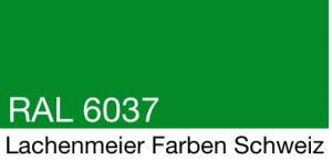 Farbkarte Norm Ral Karte Classic K6 RAL 6037 Reingrün A4 Einzelbogen
