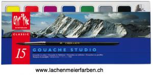 Caran d'Ache Gouache Set Tabletten 15 Plastik