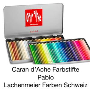 Caran d'Ache Artist Farbstift Pablo Metallschachtel mit 80 wasserfesten Farbstiften