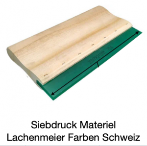 Siebdruck Werkzeug: Rakel Holz / Gummi 9x50mm Länge 42cm Shore 70