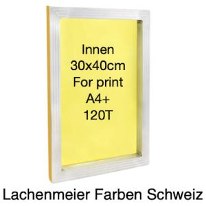 Siebdruck Rahmen Alu 30x40cm Innenmass für A4+ Gewebe 120T