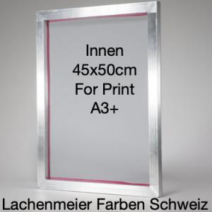 Siebdruck Rahmen Alu 45x50cm Innenmass für A3+ Gewebe 90T