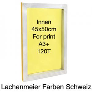 Siebdruck Rahmen Alu 45x50cm Innenmass für A3+ Gewebe 120T