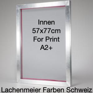 Siebdruck Rahmen Alu 57x77cm Innenmass für A2+ Gewebe 49T